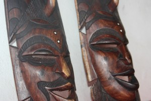 Men and Women African Masks set