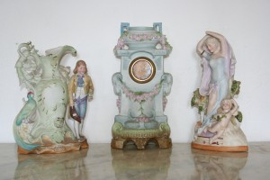 Antique German Porcelain Clock