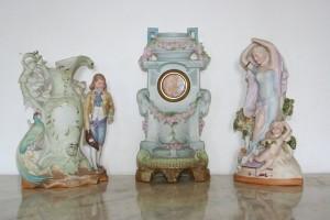 Antique German Porcelain Clock