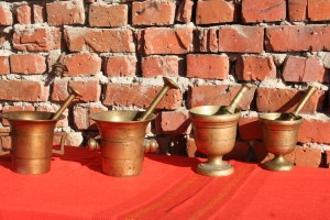 Collection bronze mortars