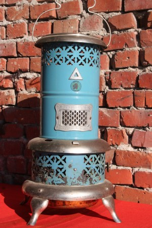 SMOKELESS OIL HEATER VINTAGE DECOR 1900'S