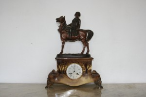 Antiques France Clock with sculpture