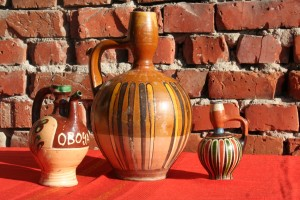 Bulgarian old ceramic set