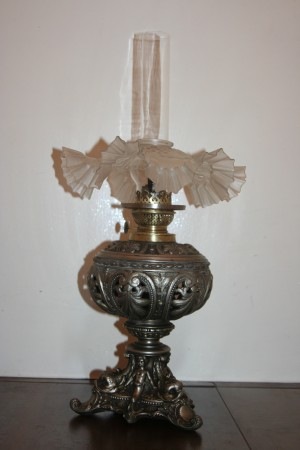 Uniquely beautiful old gas lamp