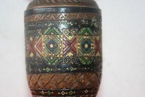 Old Austrian wooden Vase