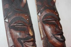 Men and Women African Masks set