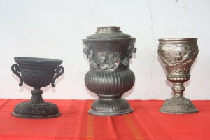 Old gas lamp bases set