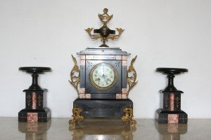 French Clock with Candelabras